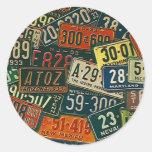 Placa de las placas del viaje de los viajes por etiquetas redondas