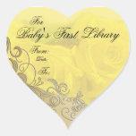 """""""Placa de libro de la primera biblioteca del bebé"""" Etiqueta"""