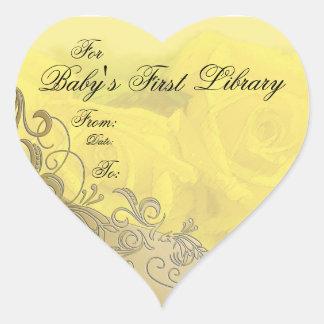 """""""Placa de libro de la primera biblioteca del bebé"""" Colcomanias De Corazon"""