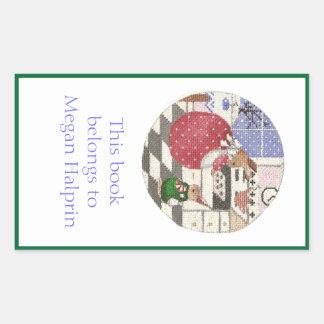 Placa de libro de los conejitos de la hornada rectangular altavoz
