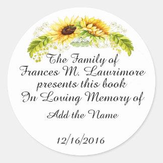 Placa de libro en el pegatina de Memoriam