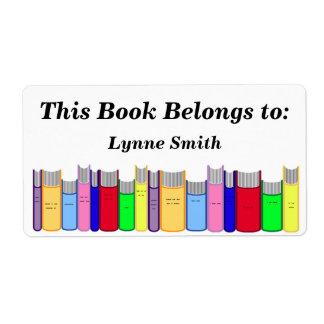 Placa de libro etiquetas de envío