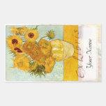 """Placa de libro grande de los girasoles """"ex Libris Rectangular Altavoces"""