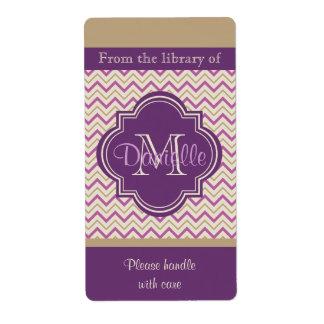 Placa de libro púrpura de la orquídea de moda de Q Etiquetas De Envío