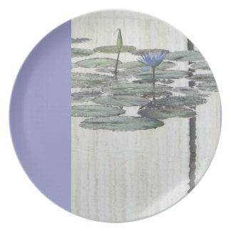Placa de Lilly del agua del bígaro Plato De Cena