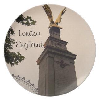 Placa de Londres, Inglaterra Platos