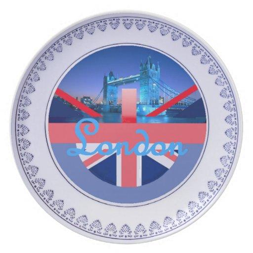 Placa de Londres Plato Para Fiesta