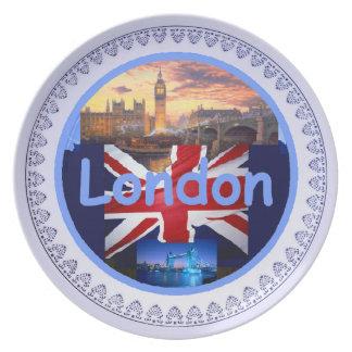 Placa de Londres Platos De Comidas