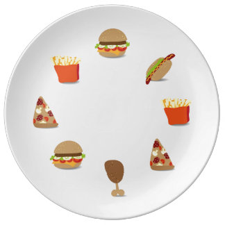 Placa de los alimentos de preparación rápida platos de cerámica