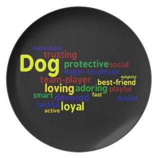 Placa de los amantes del perro platos
