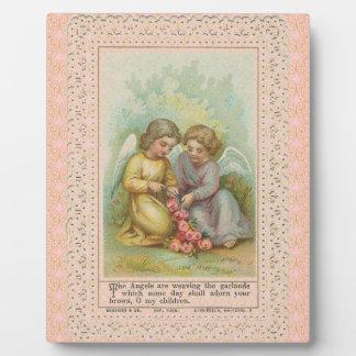 Placa de los ángeles de Vinatage