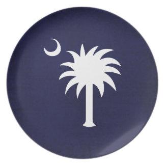 Placa de los azules marinos del Palmetto de Caroli Platos Para Fiestas