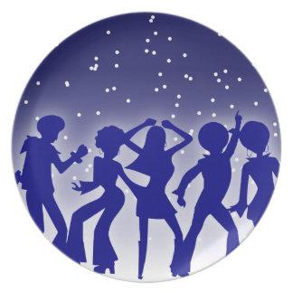 Placa de los bailarines del disco platos para fiestas