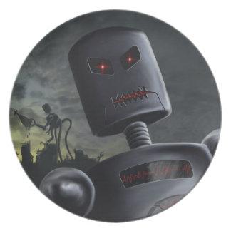 Placa de los Bots del demonio Platos De Comidas