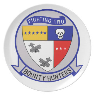 Placa de los cazadores de tesoros VF-2 Plato De Cena