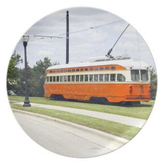 Placa de los coches de la tranvía de Kenosha Plato De Comida