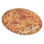 Placa de los espaguetis plato