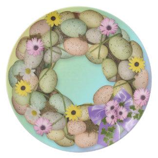 Placa de los huevos de Pascua Plato