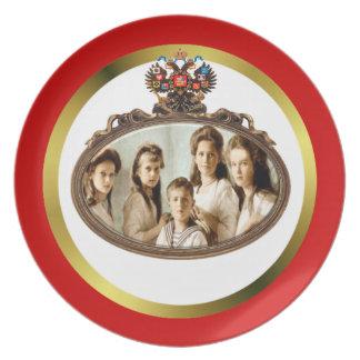 Placa de los niños de Romanov Platos