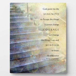Placa de los pasos del rezo de la serenidad