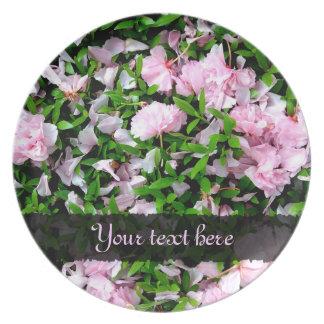 placa de los pétalos de Sakura Plato Para Fiesta