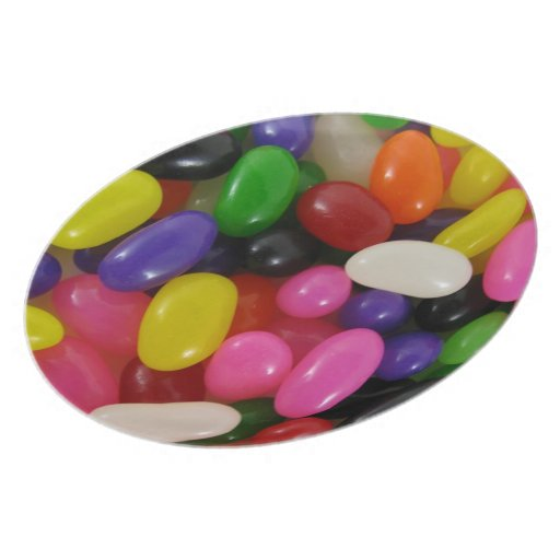 Placa de los polos del caramelo del arco iris de l platos de comidas