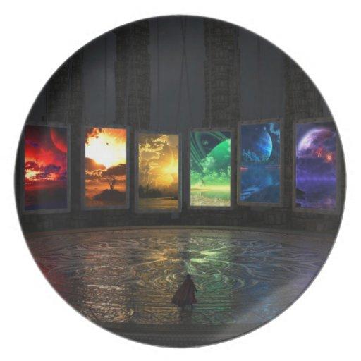 Placa de los portales plato para fiesta