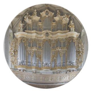 Placa de los tubos de órgano - Halle Plato Para Fiesta