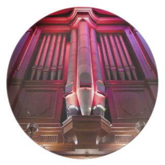 Placa de los tubos de órgano - órgano de ayuntamie plato para fiesta