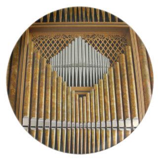 Placa de los tubos de órgano - Seattle Platos De Comidas