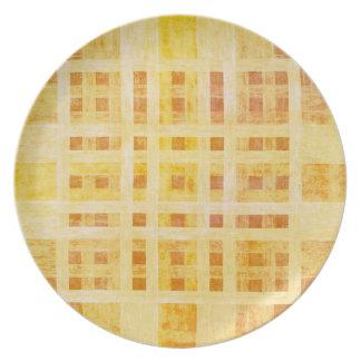 Placa de madera de la melamina del modelo platos de comidas