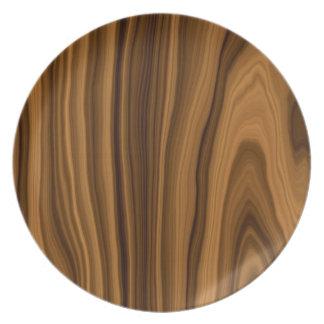 Placa de madera del modelo plato de comida