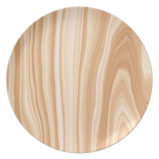 Placa de madera del modelo platos de comidas