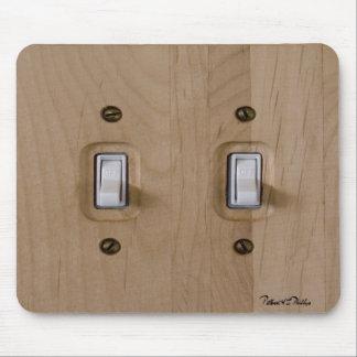 Placa de madera doble del interruptor tapete de ratones