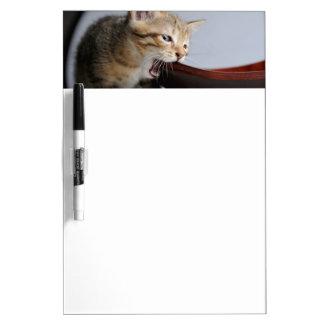 Placa de madera penetrante del gatito tablero blanco