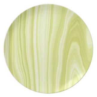 Placa de madera verde del modelo plato para fiesta