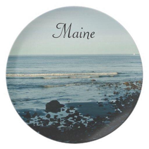 Placa de Maine Plato Para Fiesta
