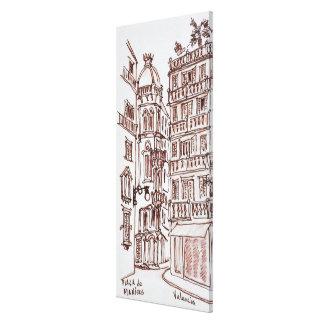 Placa de Manises in Old Town | Valencia, Spain Canvas Print