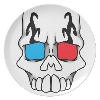Placa de marfil 3D de Calavera Platos De Comidas