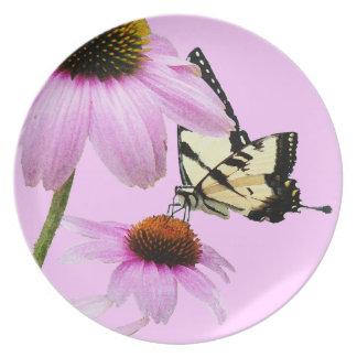 Placa de mariposa de Swallowtail de la cebra Plato