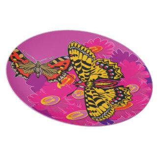 placa de mariposa platos para fiestas