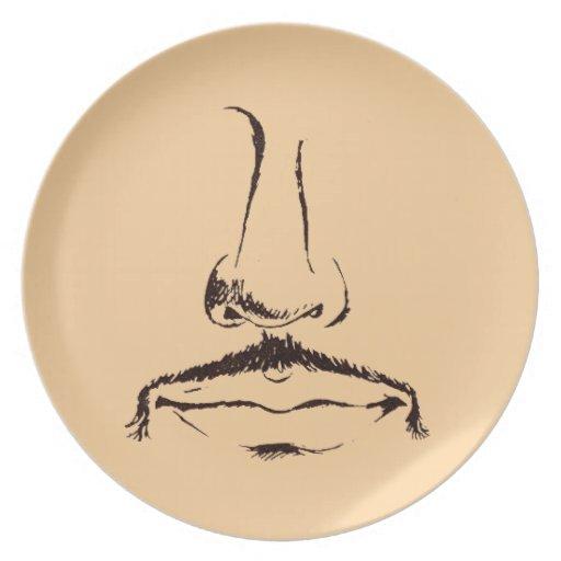 Placa de Melmac del bigote del vintage Plato Para Fiesta