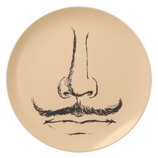 Placa de Melmac del bigote del vintage Platos