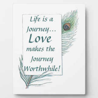 Placa de mérito del vintage del amor del viaje de