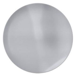 Placa de metal de plata plato para fiesta