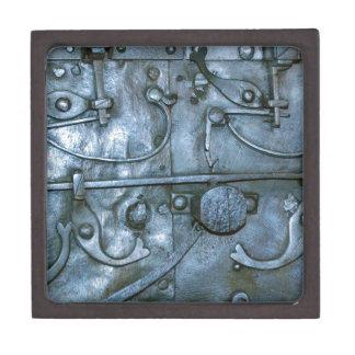 Placa de metal medieval caja de joyas de calidad