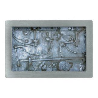 Placa de metal medieval hebilla de cinturon rectangular
