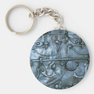 Placa de metal medieval llavero redondo tipo pin