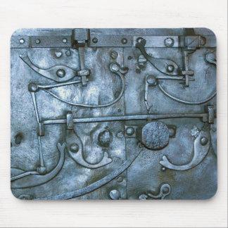 Placa de metal medieval tapetes de raton