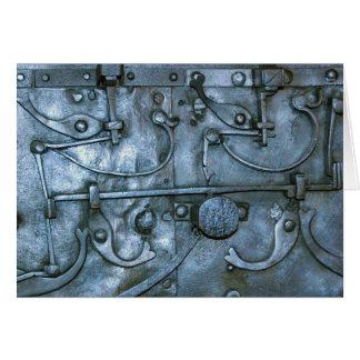 Placa de metal medieval tarjeta de felicitación